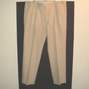 Berle Men's Chinos Beige 42W x 32L Pleated Front